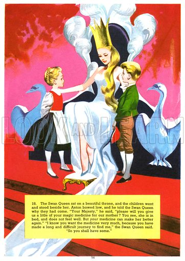 The Search for the Swan Queen. From Jack and Jill Annual 1969.