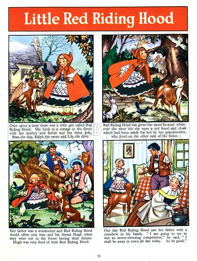 Little Red Riding Hood. From Fun in Toyland Annual 1958.