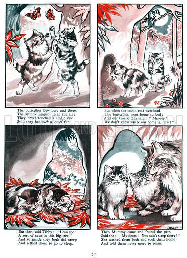 Tibby and Tabby the Merry Kittens. From Fun in Toyland Annual 1959.