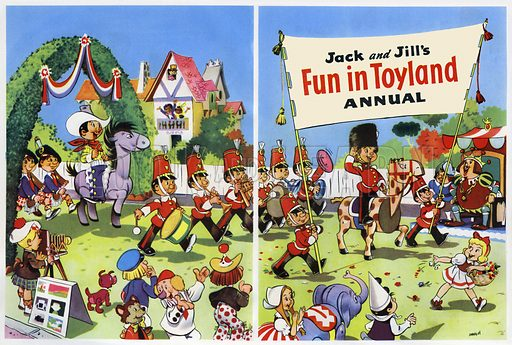 Fun in Toyland. Title page from Jack and Jill's Fun in Toyland Annual 1959.