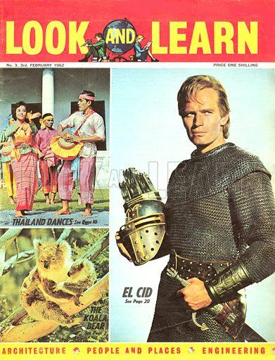 Charlton Heston as El Cid.