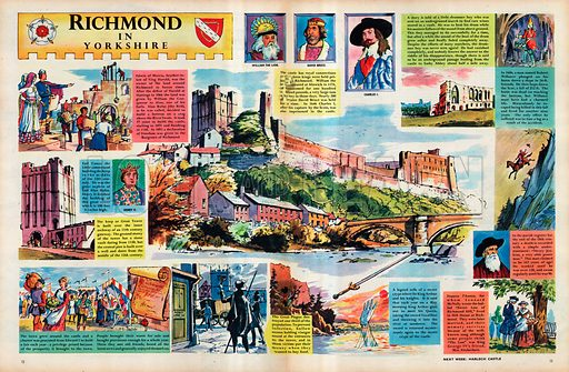 Richmond in Yorks, picture, image, illustration