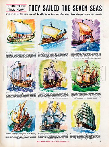 From Then Till Now: They Sailed the Seven Seas.