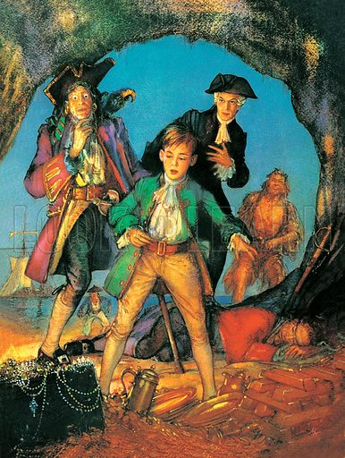 Treasure Island. Professionally re-touched image.