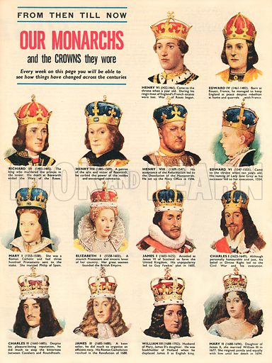 Our Monarchs and the Crowns They Wore.