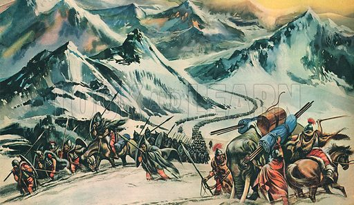 Hannibal Crossing the Alps.
