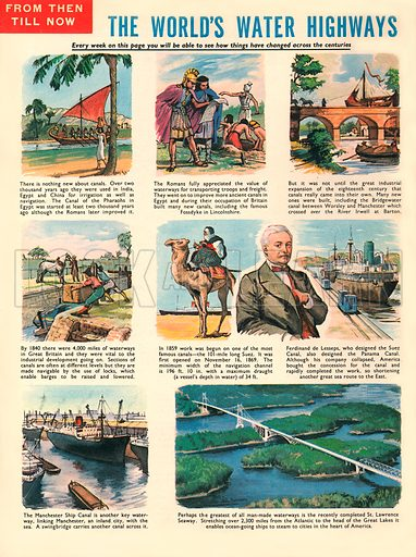 The World's Water Highways. Canals around the world.