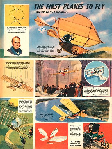 The Route to the Moon: The First Planes to Fly.