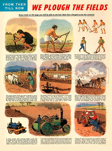 From Then Till Now: We Plough the Fields. The history of ploughing.