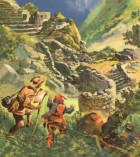 Where is the Secret City's Treasure? Hiram Bingham discovers the lost Incan city in Peru.