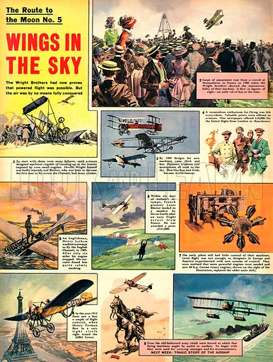 The Route to the Moon: Wings in the Sky.