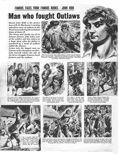 Famous Faces from Famous Books: John Ridd. from R. D. Blackmore's Lorna Doone.