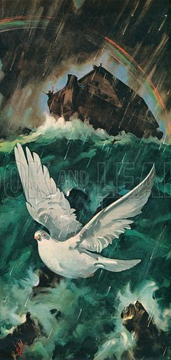 """Noah's Ark. """"Noah released a dove from his ark to see if the waters were abated from off the face of the ground.""""."""