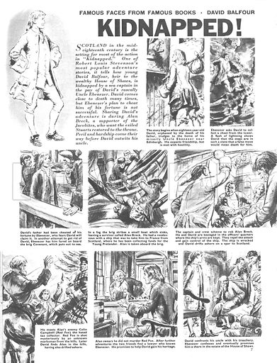 Famous Faces from Famous Books: David Balfour from R. L. Steveonson's Kidnapped.