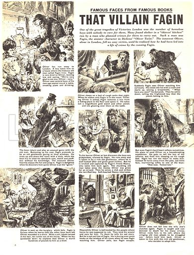 Famous Faces From Famous Books: That Villain Fagin, from Charles Dicken's novel Oliver Twist.