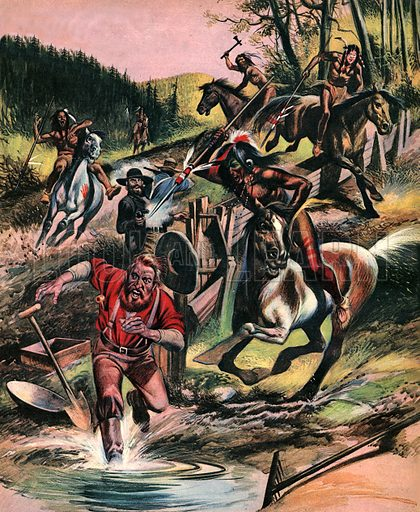 """Fight for the Wild West: The Redman Goes to War. """"For a long time the Indians watched patiently as the white settlers poured over their lands. Finally they could stand no more...""""."""