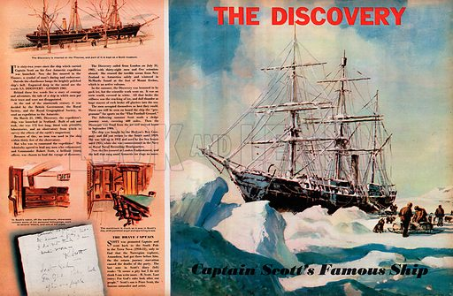 The Discovery: Captain Scott's Famous Ship.
