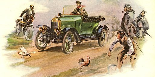 The Morris Motor-Car. The first four-wheeled car from Morris. As soon as the 'Bullnose Morris' was announced, 400 were ordered immediately.