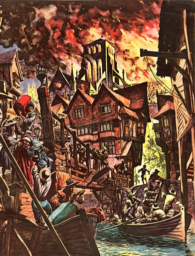 The Great Fire of London -- as seen through the diary of Samuel Pepys.