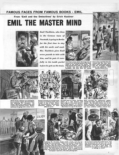 Famous Faces from Famous Books: Emil the Master Mind, from Erich Kastner's novel Emil and the Detectives.