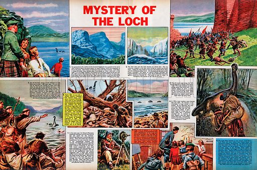 Mystery of the Loch. Many people have reported sightings of a monster in Loch Ness.
