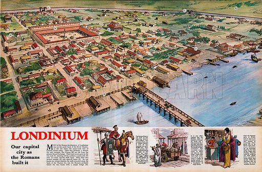 Londinium -- London in the time of the Romans.