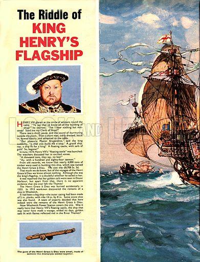 Henry VIII and his flagship, Henri Grace a Dieu.