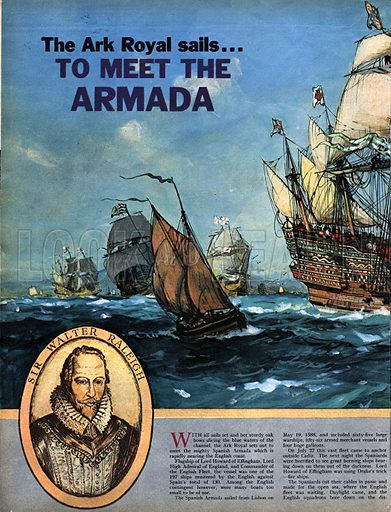 The Ark Royal Sails to Meet the Armada.