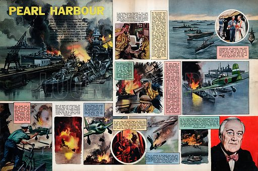 Pearl Harbour. On the night of December 7th, 1941, the U.S. Pacific Fleet lay in Pearl Harbour, Hawaii, unware that they were about to be attacked by a Japanese air raid.