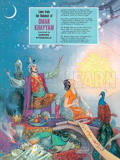 The Rubaiyat of Omar Khayyam. Professionally re-touched image.