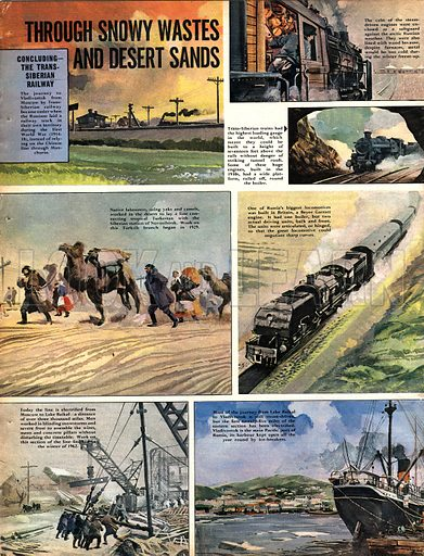 """The Trans-Siberian Railway: Through Snowy Wastes and Desert Sands. A journey along Russia's """"Iron Road""""."""