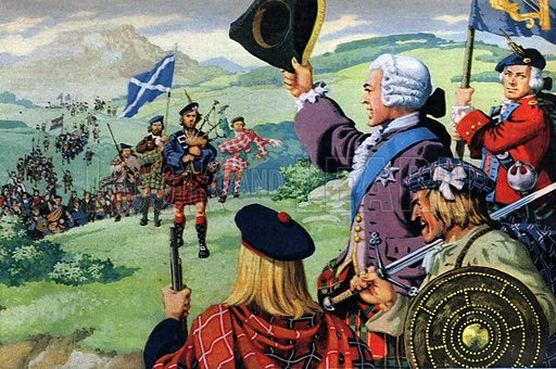 "The Lost Cause of Bonnie Prince Charlie. ""From all over Scotland the clansmen flocked to his banner. Within months many of them lay dead -- their leader hunted like a fox by the English redcoats.""."