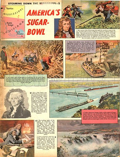 Steaming Down the Mississippi: America's Sugar Bowl.