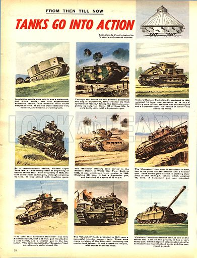 From Then Till Now: Tanks Go Into Action.