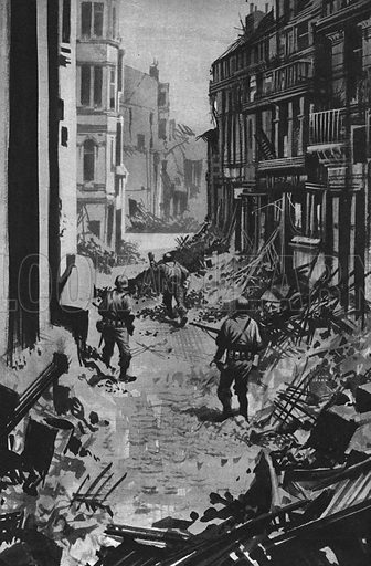 Into Battle: The End of the World's Worst War. Troops enter Berlin at the end of the Second World War.