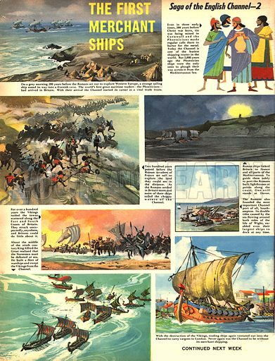 Saga of the English Channel: The First Merchant Ships.