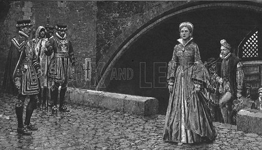 The Tower of London -- the Tower receives Princess Elizabeth (later Elizabeth I).