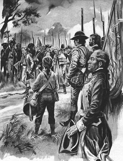 "Into Battle: They Ceased Fire to Honour an Enemy. ""When the American colonists fighting at Saratoga realised that their enemies the British were burying a general, they halted the battle in honour of a gallant foe.""."