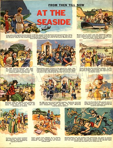From Then Till Now: At the Seaside.