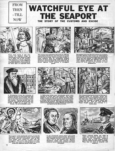 From Then Till Now: Watchful Eye at the Seaport. The Story of the Customs and Excise.