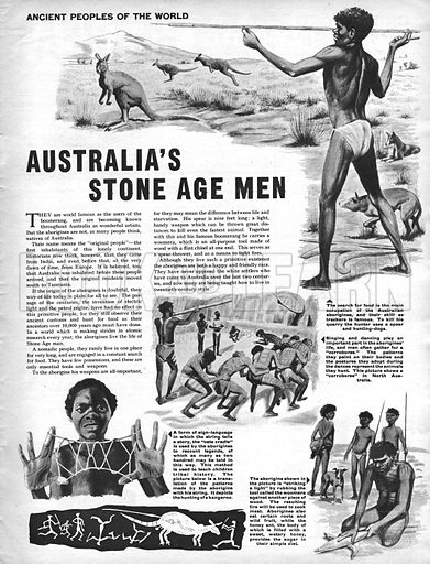 Ancient Peoples of the World: Australia's Stone Age Men.