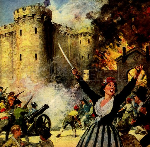 Other People's Countries: Women Who Fought for France, including Joan of Arc, Charlotte Corday and Madame du Barry. Here we see women helping to storm the Bastille prison in 1789.