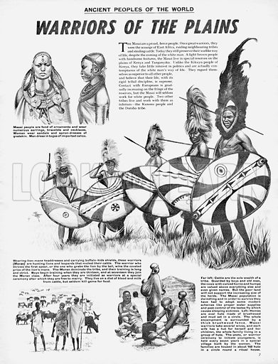 Ancient Peoples of the World: Warriors of the Plains -- the Masai.