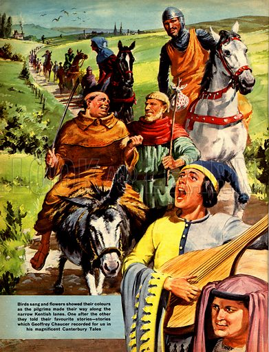 The Canterbury Tales. Geoffrey Chaucer's famous collection of pilgrim tales.