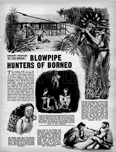 Ancient Peoples of the World: Blowpipe Hunters of Borneo.