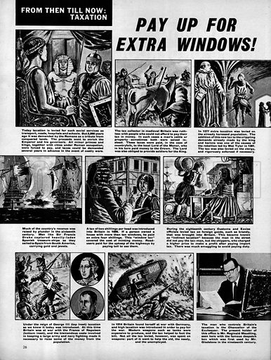 From Then Till Now: Taxation -- Pay Up for Extra Windows!.
