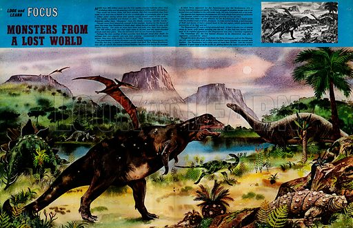 Focus on Monsters from a Lost World – Dinosaurs.