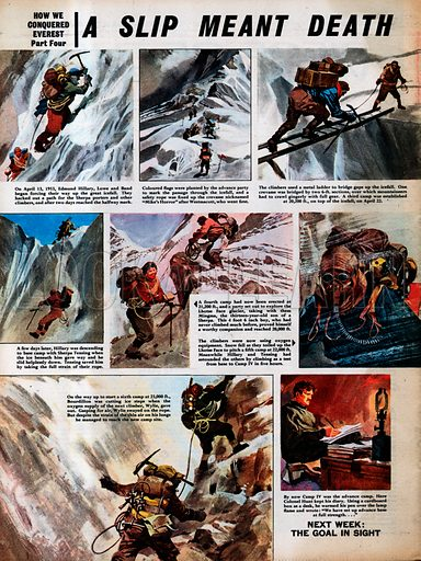 How We Conquered Everest: A Slip Meant Death.