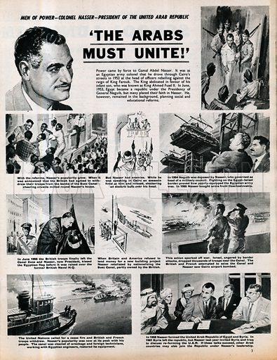 Men of Power: Colonel Nasser, President of the United Arab Republic.