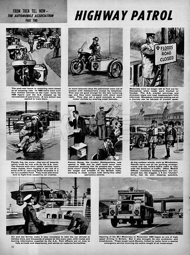 From Then Till Now: The Automobile Association -- Highway Patrol.